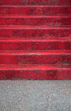红色步骤 免版税图库摄影
