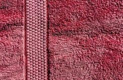 红色毛巾纹理 库存图片