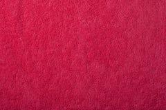 红色毛巾纹理  免版税库存照片