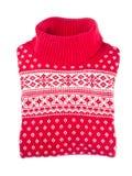 红色毛线衣羊毛 免版税库存图片