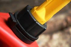 红色气体可能关闭  免版税库存照片