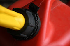 红色气体可能关闭  免版税图库摄影