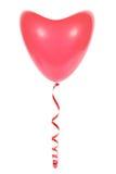 红色气球心脏 免版税库存照片