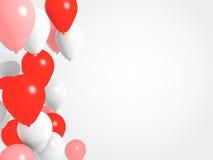红色气球背景 库存例证