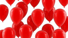 红色气球飞行  库存例证