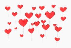 红色气球-心脏 免版税图库摄影