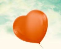 红色气球 免版税库存照片