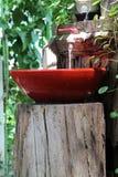 红色水槽 免版税库存照片
