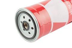 红色汽油滤器 免版税库存照片