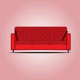 红色沙发传染媒介 库存图片