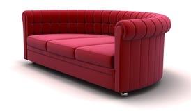 红色沙发 免版税库存图片