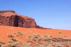 红色沙子小山 免版税库存照片