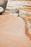 红色沙子河岸 免版税图库摄影