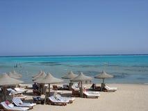 红色沙子海运 库存图片