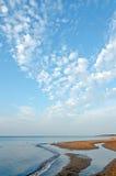 红色沙子海滩 库存图片
