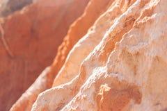 红色沙子石头 免版税库存照片