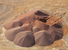 红色沙子 免版税库存图片
