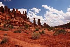 红色沙漠 图库摄影