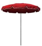 红色沙滩伞 免版税库存照片