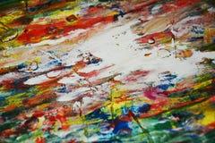 红色油漆桃红色金子白色纹理油漆水彩斑点 免版税图库摄影