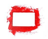 红色油漆框架 免版税图库摄影