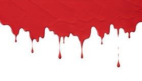 红色油漆滴水 免版税库存图片