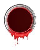 红色油漆滴水 库存图片