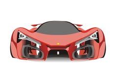 红色法拉利f80跑车传染媒介  免版税库存照片