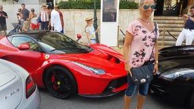 红色法拉利LaFerrari 股票视频