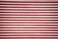 红色波纹状的金属板 图库摄影