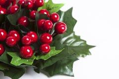 红色浆果圣诞节花圈  免版税库存图片