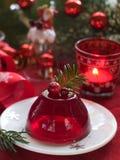 红色浆果果冻 库存照片