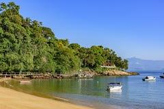 红色海滩在重创的Ilha,里约热内卢 库存图片