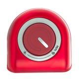 红色涡轮按钮 免版税库存图片