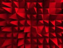 红色混乱立方体墙壁背景 库存例证