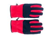 红色温暖的手套 免版税库存图片
