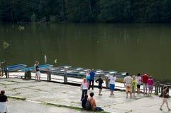 红色湖在特兰西瓦尼亚 免版税库存图片