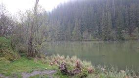 红色湖 库存照片