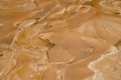 红色湿黏土泥 免版税库存图片