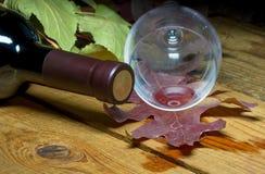 红色溢出的酒 免版税图库摄影