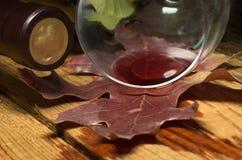 红色溢出的酒 库存图片