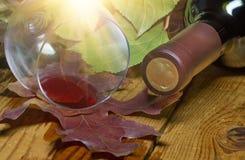 红色溢出的酒 免版税库存图片