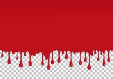 红色滴下的软泥无缝的元素 库存例证