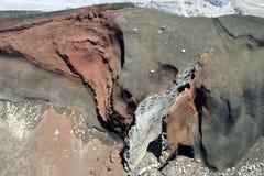 红色火山口在东格里罗国家公园, NZ 免版税库存图片