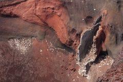 红色火山口在东格里罗国家公园 图库摄影