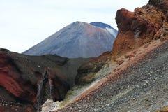 红色火山口 图库摄影