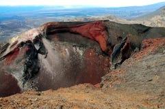 红色火山口 免版税库存图片
