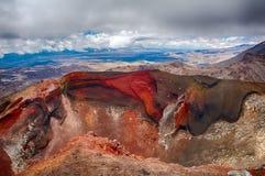 红色火山口 库存照片