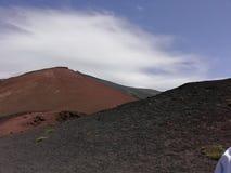 红色火山口- Etna火山 免版税库存照片
