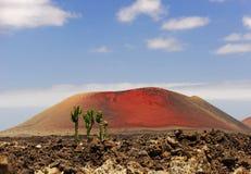 红色火山 图库摄影